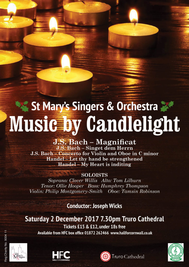 A candlelit concert at Truro Cathedral