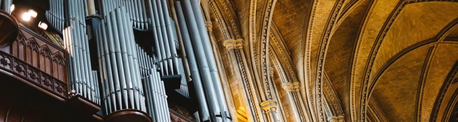 organ pipes at truro cathedral