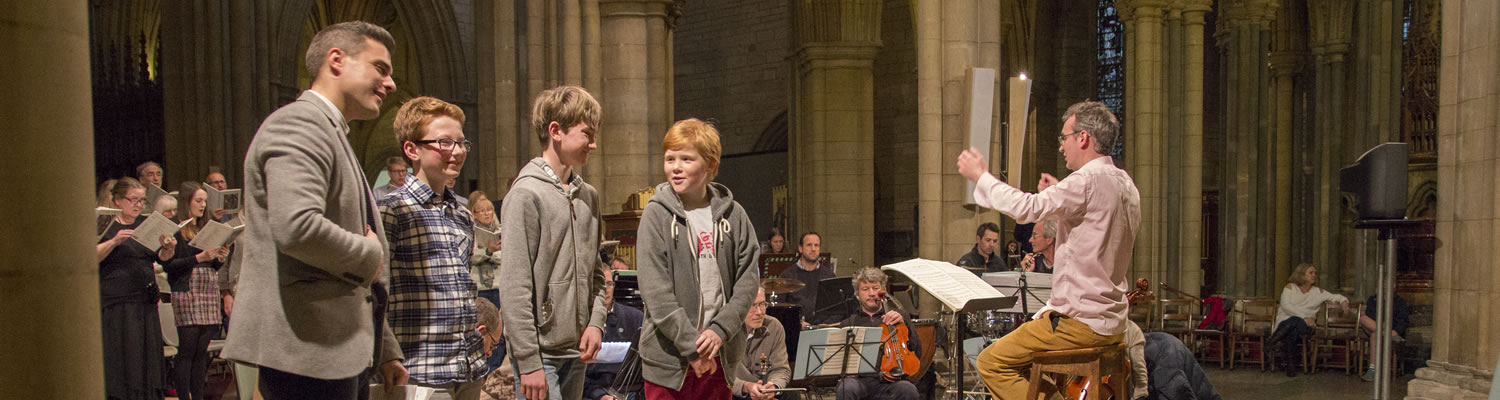young singers with st mary's singers, voluntary choir of truro cathedral