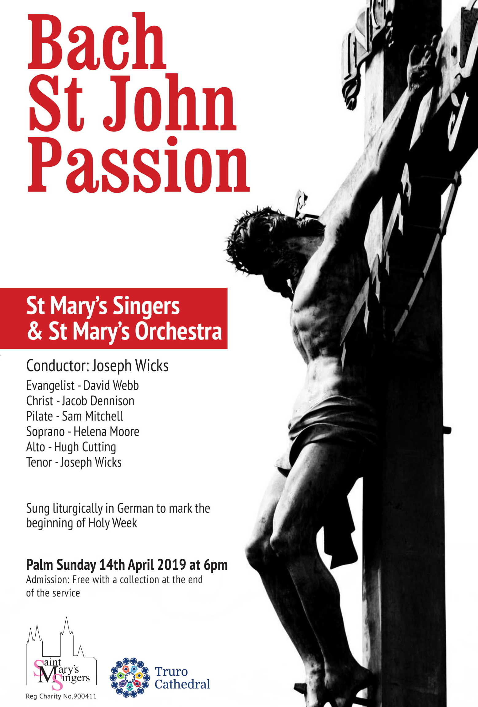 St Mary's Singers perform the St John Passion at Truro Cathedral